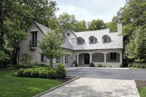 Beautiful gray home with new replacement windows